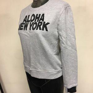 AIKO Aloha NY Embroidered Crewneck Sweatshirt